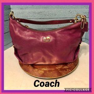 Coach purple leather bag